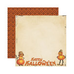 Reminisce - Hallowe'en Collection - 12 x 12 Double Sided Paper - Happy Hallowe'en