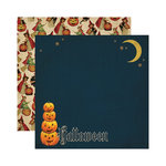 Reminisce - Halloween Collection - 12 x 12 Double Sided Paper - Halloween Pumpkins