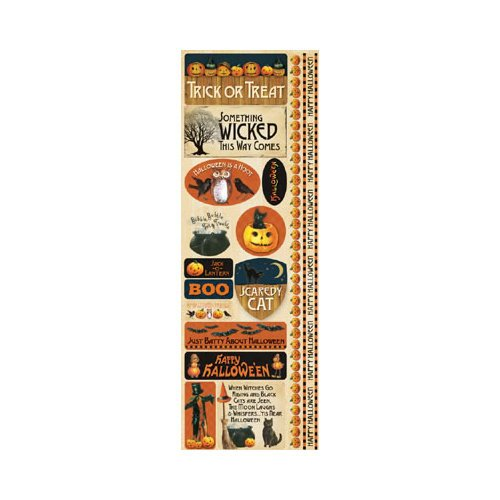 Reminisce - Hallowe'en Collection - Cardstock Stickers - Combo
