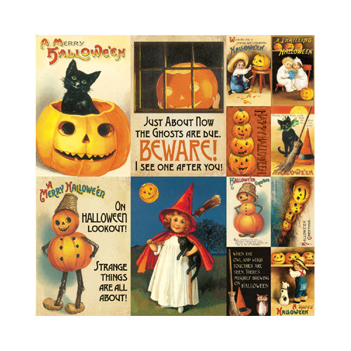 Reminisce - Halloween Collection - 12 x 12 Cardstock Stickers - Poster