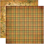 Reminisce - Harvest Collection - 12 x 12 Double Sided Paper - Harvest Plaid