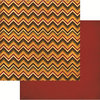 Reminisce - Harvest 2014 Collection - 12 x 12 Double Sided Paper - Harvest Chevron