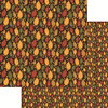 Reminisce - Harvest 2014 Collection - 12 x 12 Double Sided Paper - Harvest Leaves