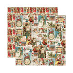 Reminisce - Here Comes Santa Collection - Christmas - 12 x 12 Double Sided Paper - Christmas Collage