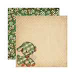 Reminisce - Here Comes Santa Collection - Christmas - 12 x 12 Double Sided Paper - Gift from Santa