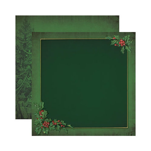 Reminisce - Here Comes Santa Collection - Christmas - 12 x 12 Double Sided Paper - Christmas Holly