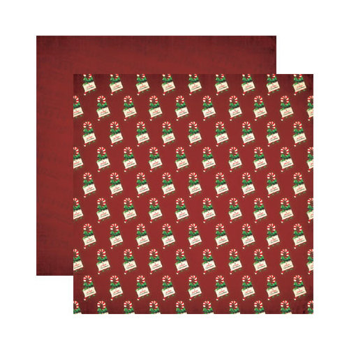 Reminisce - Here Comes Santa Collection - Christmas - 12 x 12 Double Sided Paper - A Merry Christmas