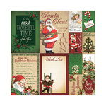 Reminisce - Here Comes Santa Collection - Christmas - 12 x 12 Cardstock Stickers - Poster