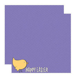 Reminisce - Happy Easter Collection - 12 x 12 Double Sided Shimmer Paper - Happy Easter