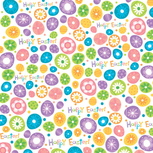 Reminisce - Happy Easter Collection - 12 x 12 Double Sided Paper - Egg Hunt