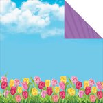 Reminisce - Happy Easter Collection - 12 x 12 Double Sided Paper - Spring Tulips