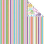 Reminisce - Happy Easter Collection - 12 x 12 Double Sided Paper - Easter Stripe