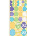 Reminisce - Happy Easter Collection - Glitter Cardstock Stickers - Easter Eggs