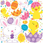 Reminisce - Happy Easter Collection - 12 x 12 Cardstock Stickers - Icon