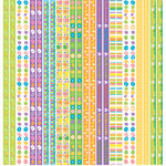 Reminisce - Happy Easter Collection - 12 x 12 Cardstock Stickers - Border
