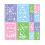 Reminisce - Happy Easter Collection - 12 x 12 Cardstock Stickers - Quote