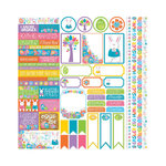 Reminisce - Happy Easter Collection - 12 x 12 Cardstock Stickers - Variety