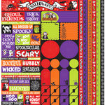 Reminisce - Halloween Party Collection - 12 x 12 Cardstock Stickers - Multi