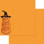 Reminisce - Halloween Party Collection - 12 x 12 Double Sided Paper - Jack Stack