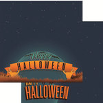 Reminisce - Halloween Party Collection - 12 x 12 Double Sided Paper - Happy Halloween