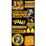 Reminisce - I Heart Candy Collection - Halloween - Layered Chipboard Stickers