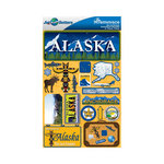 Reminisce - Jetsetters Collection - 3 Dimensional Die Cut Stickers - Alaska