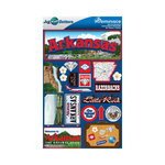 Reminisce - Jetsetters Collection - 3 Dimensional Die Cut Stickers - Arkansas