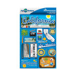 Reminisce - Jetsetters Collection - 3 Dimensional Die Cut Stickers - California