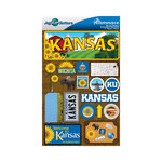 Reminisce - Jetsetters Collection - 3 Dimensional Die Cut Stickers - Kansas