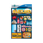 Reminisce - Jetsetters Collection - 3 Dimensional Die Cut Stickers - Maryland