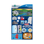 Reminisce - Jetsetters Collection - 3 Dimensional Die Cut Stickers - Mississippi