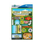 Reminisce - Jetsetters Collection - 3 Dimensional Die Cut Stickers - New Jersey