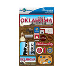 Reminisce - Jetsetters Collection - 3 Dimensional Die Cut Stickers - Oklahoma