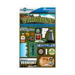 Reminisce - Jetsetters Collection - 3 Dimensional Die Cut Stickers - Vermont