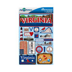 Reminisce - Jetsetters Collection - 3 Dimensional Die Cut Stickers - Virginia