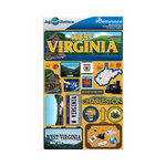 Reminisce - Jetsetters Collection - 3 Dimensional Die Cut Stickers - West Virginia