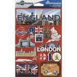 Reminisce - Jetsetters Collection - 3 Dimensional Die Cut Stickers - England