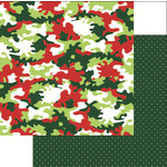 Reminisce - Jungle All the Way Collection - Christmas - 12 x 12 Double Sided Paper - Camo