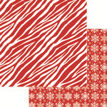 Reminisce - Jungle All the Way Collection - Christmas - 12 x 12 Double Sided Paper - Zebra Red