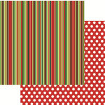 Reminisce - Jungle All the Way Collection - Christmas - 12 x 12 Double Sided Paper - Stripe