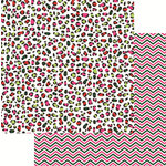 Reminisce - Jungle All the Way Collection - Christmas - 12 x 12 Double Sided Paper - Multicolored Leopard