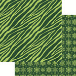 Reminisce - Jungle All the Way Collection - Christmas - 12 x 12 Double Sided Paper - Zebra Green