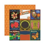 Reminisce - Labels Classique Collection - 12 x 12 Double Sided Paper - Corona Lily