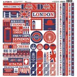 Reminisce - London Collection - 12 x 12 Cardstock Stickers - Multi