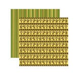 Reminisce - Monkey Business Collection - 12 x 12 Double Sided Paper - Crazy Monkey Stripe