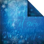 Reminisce - Magical Christmas Collection - 12 x 12 Double Sided Paper - Let it Snow