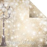 Reminisce - Magical Christmas Collection - 12 x 12 Double Sided Paper - Magical Lane