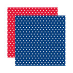 Reminisce - Made in the USA Collection - 12 x 12 Double Sided Paper - Celebration Stars