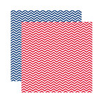 Reminisce - Made in the USA Collection - 12 x 12 Double Sided Paper - Celebration Chevron