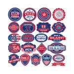 Reminisce - Made in the USA Collection - 12 x 12 Cardstock Stickers - Label